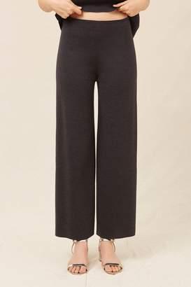 Mansur Gavriel Wool Milano Trousers - Dark Grey Melange