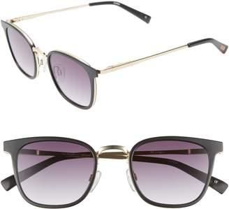 Le Specs 49mm Horn Rim Sunglasses