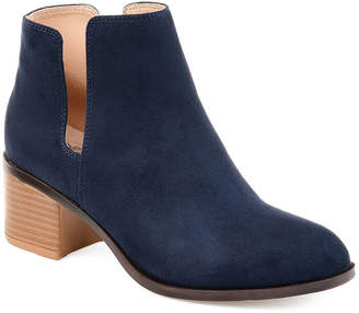 Journee Collection Womens Jc Vianne Booties Stacked Heel Slip-on