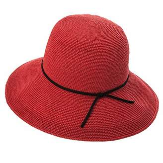 8dcd02113c7 Cloche Jeff   Aimy Womens Sun Hat Straw Panama Fedora Packable Floppy Brim  Fashion Straw UPF