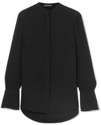 Alexander McQueen Silk-georgette Shirt - Black