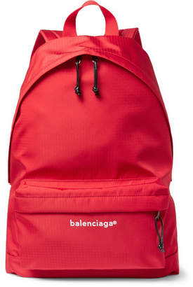 Balenciaga Explorer Ripstop Backpack - Red