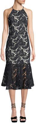 Keepsake Easy Love Halter Flounce Lace Dress
