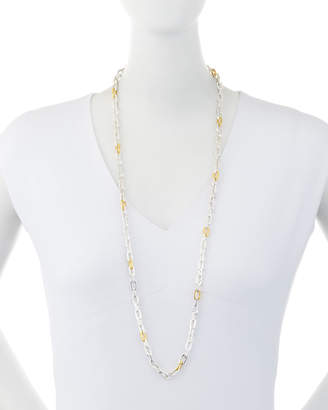 "Gurhan Two-Tone Oval-Link Chain Long Necklace, 36""L"