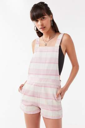 Urban Outfitters Square-Neck Striped Shortall Overall