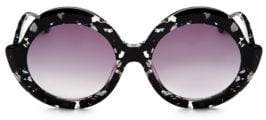 Alice + Olivia Stacey Round Black Sunglasses