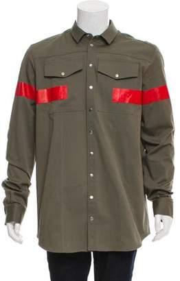 Neil Barrett 2018 Striped Cargo Shirt w/ Tags