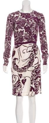 Gucci Floral Print Knee-Length Dress