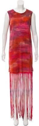 Raquel Allegra Muscle Tee Fringe Dress w/ Tags