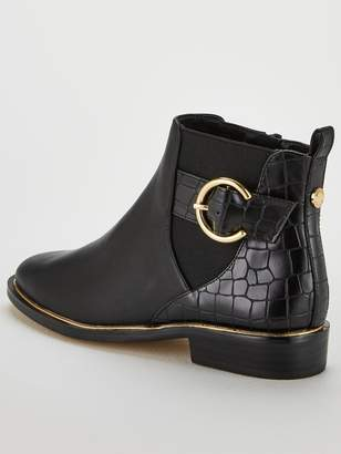 Office Alexander Buckle Ankle Boots - Black