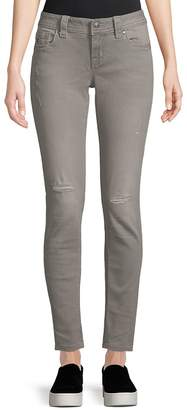 Miss Me Women's Distressed Skinny Jeans - Light Grey, Size 32 (10-12)