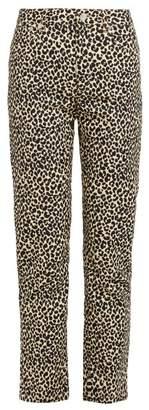 A.P.C. Basse Leopard Print Straight Leg Jeans - Womens - Leopard