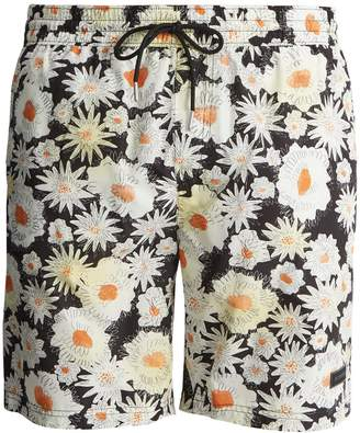 Burberry Daisy-print swim shorts