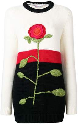 RED Valentino crochet flower jumper