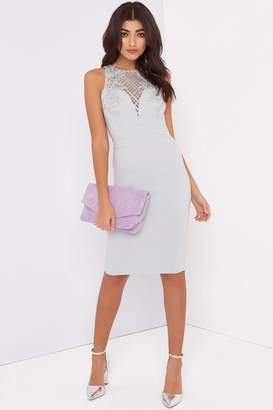 Grey Bodycon Dress - ShopStyle UK