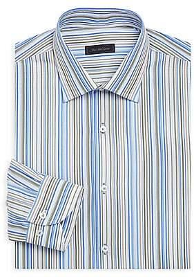 Saks Fifth Avenue Men's COLLECTION Classic-Fit Multi-Stripe Cotton Dress Shirt