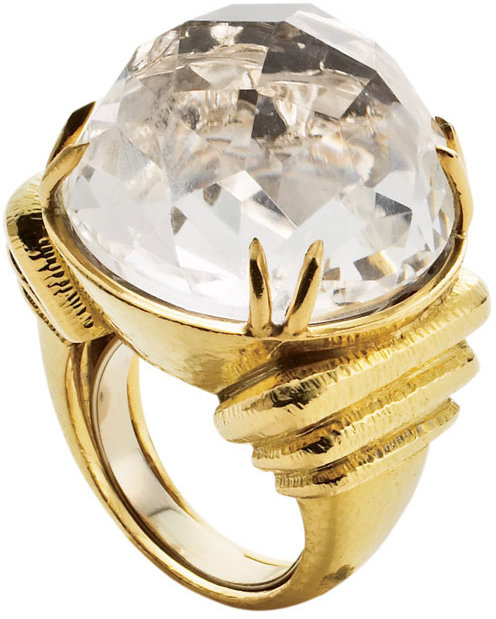 Gold and Crystal Ring by David Webb