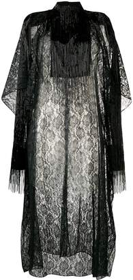 Christopher Kane lace fringe sleeve dress