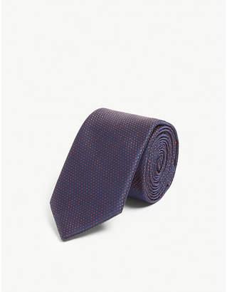 HUGO Micro dot silk tie