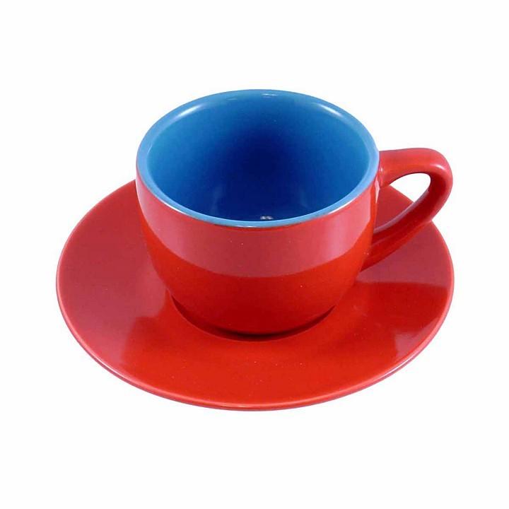 Bia Cordon Blue Cordon Bleu Assorted Espresso Cups & Saucers, Set of 6