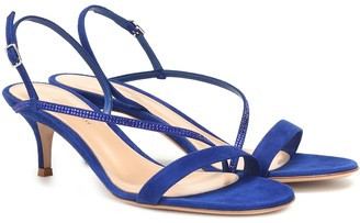 Gianvito Rossi Exclusive to Mytheresa Manhattan 55 suede sandals