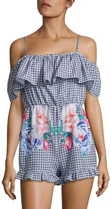 6 Shore Road Dreamer's Gingham Checked Short Cover-Up