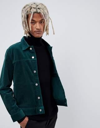 Weekday core dark green cord jacket