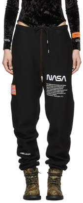 Heron Preston SSENSE Exclusive Black Fleece Lounge Pants