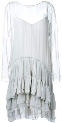 Chloé tiered ruched dress