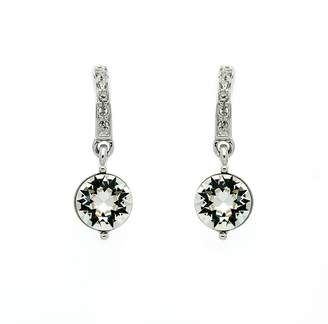KOE Lilli & Rhodium crystal drop earrings