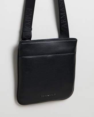 Emporio Armani Cross-Body Vitello Bottalato Messenger Bag