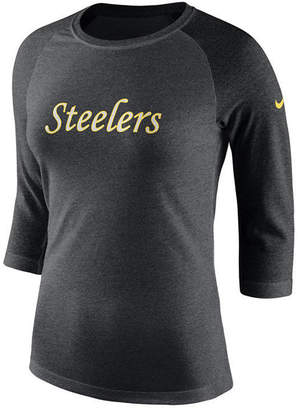 2fae322f Nike Women Pittsburgh Steelers Historic Logo Raglan T-Shirt