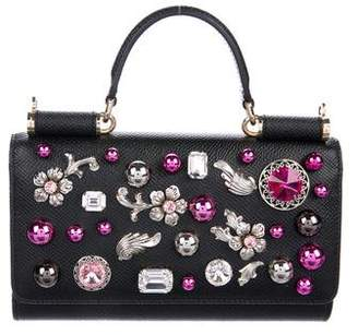 Pre-Owned at TheRealReal · Dolce   Gabbana Embellished Mini Sicily Von  Phone Crossbody Bag 7a46c83ac6150