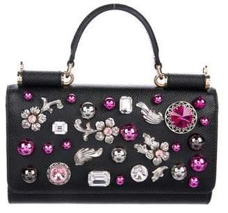 Dolce & Gabbana Embellished Mini Sicily Von Phone Crossbody Bag