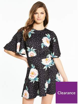 Very Printed Jersey Crepe Skater Dress