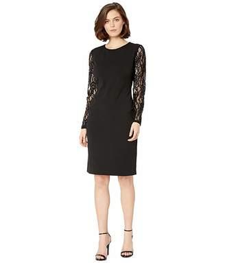 Lauren Ralph Lauren 130H Luxe Tech Crepe Keanu Long Sleeve Day Dress