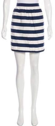 Alice + Olivia Striped Mini Skirt