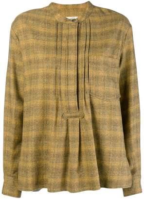 Etoile Isabel Marant plaid flared shirt