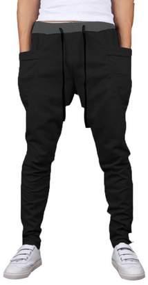 Mooncolour Men's Casual Jogging Harem Pants