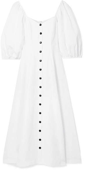 9280007cd0 Mara Hoffman - Mika Off-the-shoulder Tencel And Linen-blend Midi Dress -  White