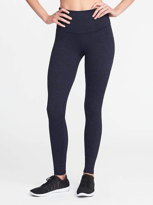 High-Rise Stripe-Melange Leggings for Women