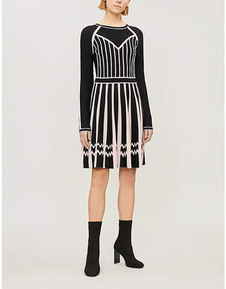 Pinko Maltese contrast-panel crepe jersey mini dress