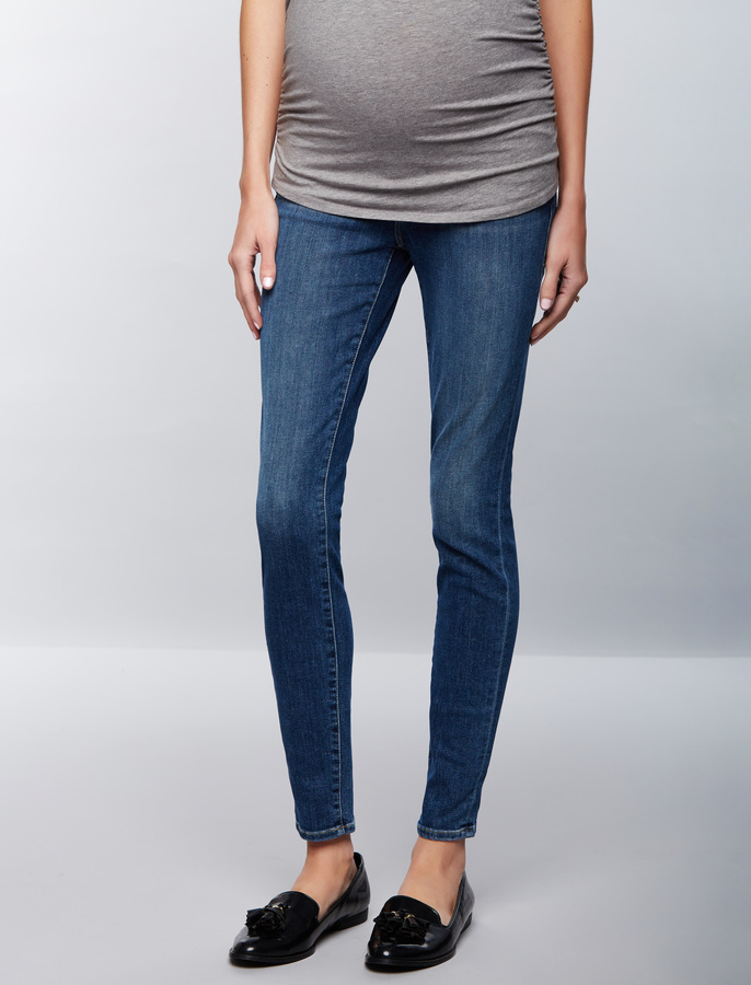 A Pea In The PodFrame Secret Fit Belly Medium Wash Skinny Maternity Jeans