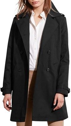 Lauren Ralph Lauren 'Balmacaan' Raincoat $240 thestylecure.com