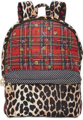 Betsey Johnson Mixed-Print Backpack