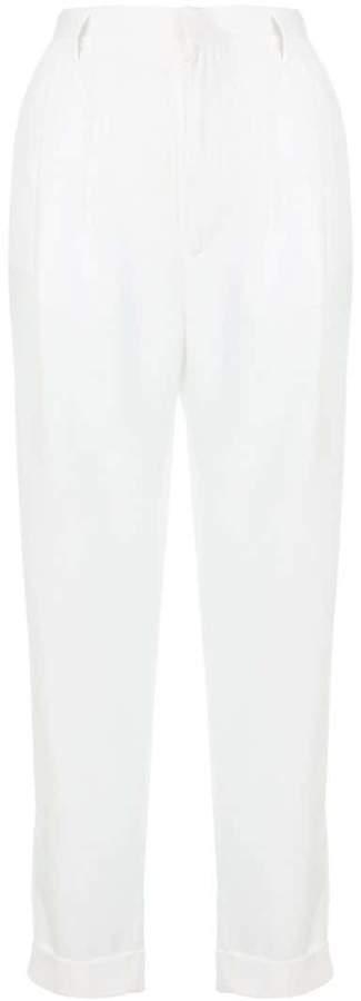 Cropped-Hose mit hohem Bund