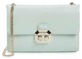 Ted Baker London Leather Crossbody Bag - Green $225 thestylecure.com