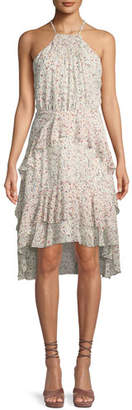 Joie Lamberta Printed Silk Halter Dress