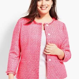 Talbots Tweed Peplum Jacket