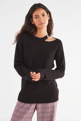 Urban Outfitters Lizzie O-Ring Cut-Out Sweater
